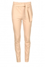 Dante 6 |  Leather paperbag pants Duran | natural  | Picture 1