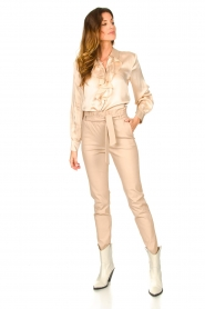 Dante 6 |  Leather paperbag pants Duran | natural  | Picture 3