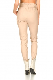 Dante 6 |  Leather paperbag pants Duran | natural  | Picture 6