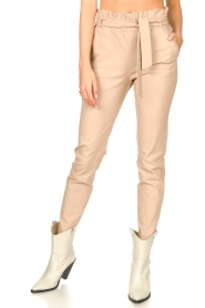Dante 6 |  Leather paperbag pants Duran | natural  | Picture 4