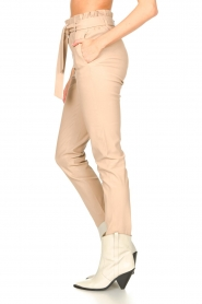 Dante 6 |  Leather paperbag pants Duran | natural  | Picture 5