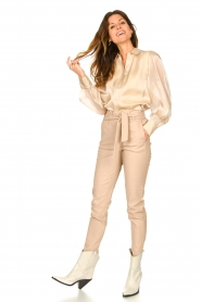Dante 6 |  Leather paperbag pants Duran | natural  | Picture 2