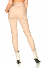Dante 6 |  Leather paperbag pants Duran | natural  | Picture 7