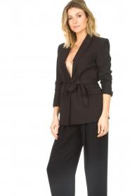 IRO |  Blazer with tie belt Better | black   | Picture 6