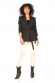 IRO |  Blazer with tie belt Better | black   | Picture 3