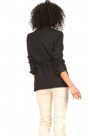 IRO |  Blazer with tie belt Better | black   | Picture 7