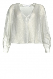 IRO |  See-through blouse with lurex Noumea | silver  | Picture 1