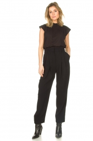 IRO |  High waist pantalon Rexo | black  | Picture 3