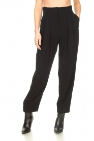 IRO |  High waist pantalon Rexo | black  | Picture 4