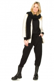 American Vintage |  Merino wool sweatpants Tadbow | black  | Picture 3