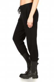 American Vintage |  Merino wool sweatpants Tadbow | black  | Picture 5