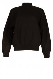 American Vintage |  Merino wool sweater Ted | black  | Picture 1