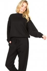 American Vintage |  Merino wool sweater Ted | black  | Picture 5