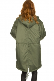 American Vintage |  Oversized parka with teddy lining Akocity | green   | Picture 8