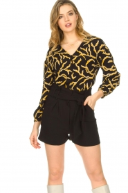 IRO |  High waisted short Steybe | black  | Picture 5