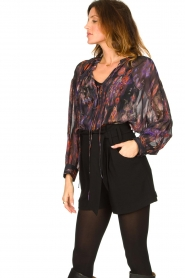 IRO |  Oversized blouse with puff sleeves Lade | multi  | Picture 5