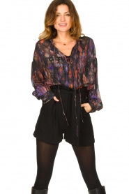 IRO |  Oversized blouse with puff sleeves Lade | multi  | Picture 2