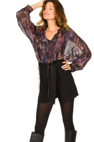 IRO |  Oversized blouse with puff sleeves Lade | multi  | Picture 4