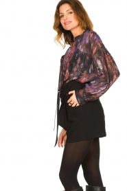 IRO |  Oversized blouse with puff sleeves Lade | multi  | Picture 6