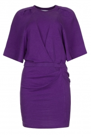 IRO |  Linen dress Livy | purple   | Picture 1