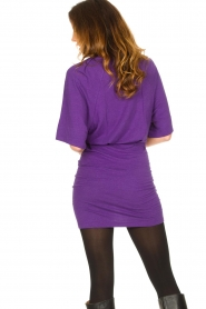 IRO |  Linen dress Livy | purple   | Picture 7