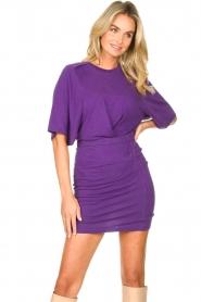 IRO |  Linen dress Livy | purple   | Picture 4