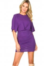 IRO |  Linen dress Livy | purple   | Picture 5