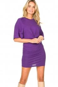 IRO |  Linen dress Livy | purple   | Picture 2