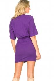IRO |  Linen dress Livy | purple   | Picture 8