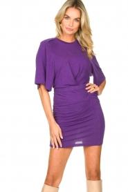 IRO |  Linen dress Livy | purple   | Picture 6
