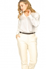 ba&sh |  Blouse with schoulder detail Alia | white  | Picture 4