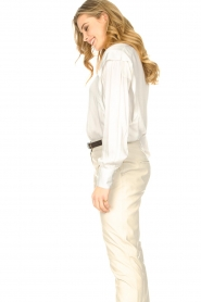 ba&sh |  Blouse with schoulder detail Alia | white  | Picture 5