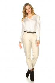 ba&sh |  Blouse with schoulder detail Alia | white  | Picture 3