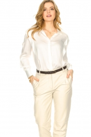 ba&sh |  Blouse with schoulder detail Alia | white  | Picture 2