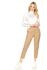American Vintage |  Wool mix trousers Vyenna | natural  | Picture 4