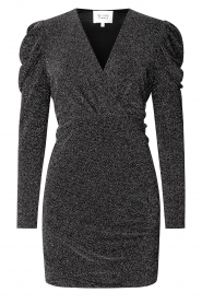 Second Female |  Glitter dress with puff sleeves Crawford | black  | Picture 1