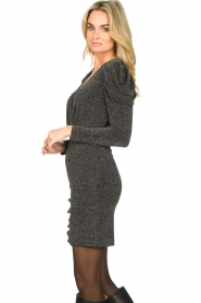 Second Female |  Glitter dress with puff sleeves Crawford | black  | Picture 5