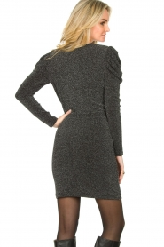 Second Female |  Glitter dress with puff sleeves Crawford | black  | Picture 6
