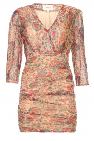 ba&sh |  Silk dress with lurex Amelia | red  | Picture 1