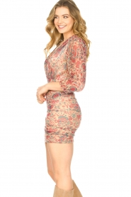 ba&sh |  Silk dress with lurex Amelia | red  | Picture 6