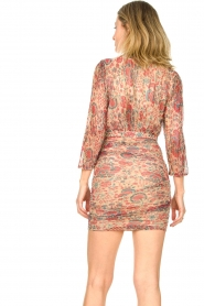 ba&sh |  Silk dress with lurex Amelia | red  | Picture 7