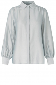 Second Female |  Blouse with puff sleeves Rosa | light blue  | Picture 1