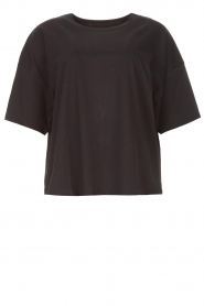 ba&sh |  Oversized cotton T-shirt Amor | black  | Picture 1