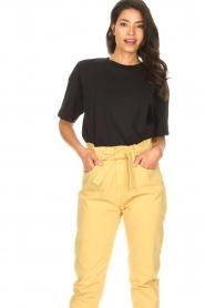ba&sh |  Oversized cotton T-shirt Amor | black  | Picture 3
