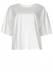 ba&sh |  Oversized cotton T-shirt Amor | white  | Picture 1