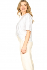 ba&sh |  Oversized cotton T-shirt Amor | white  | Picture 5