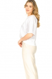 ba&sh    Oversized cotton T-shirt Amor   white    Picture 4