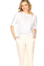 ba&sh    Oversized cotton T-shirt Amor   white    Picture 2