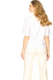 ba&sh    Oversized cotton T-shirt Amor   white    Picture 6