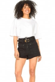 ba&sh |  Oversized cotton T-shirt Amor | white  | Picture 4